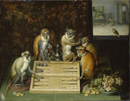 771px frans francken %28ii%29   monkeys playing backgammon